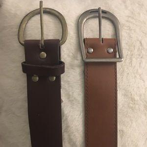 """2 Women's Embellished Belts, Brown M/L 36"""""""